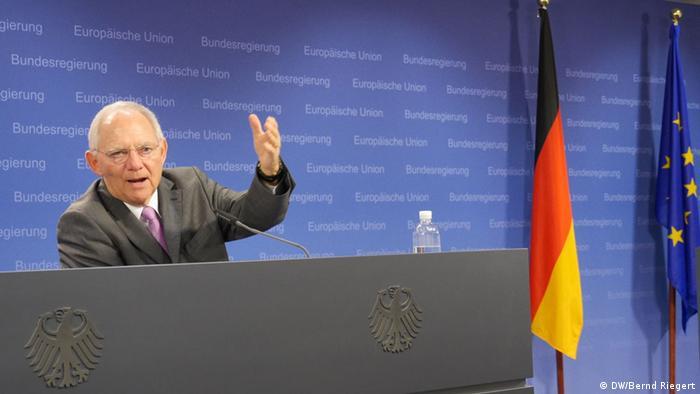 CDU Wolfgang Schäuble, Bundesfinanzminister Pressekonferenz