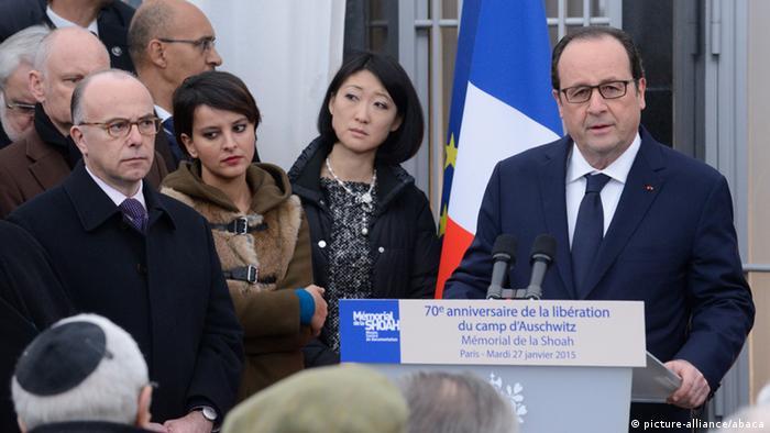 Frankreich Gedenken an Befreiung KZ Auschwitz 27.01.2015