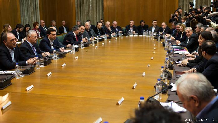 Griechenland erste Sitzung des neuen Kabinetts 28.01.2015