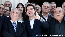 Griechenland Gruppenfoto nach der ersten Sitzung des neuen Kabinetts 28.01.2015