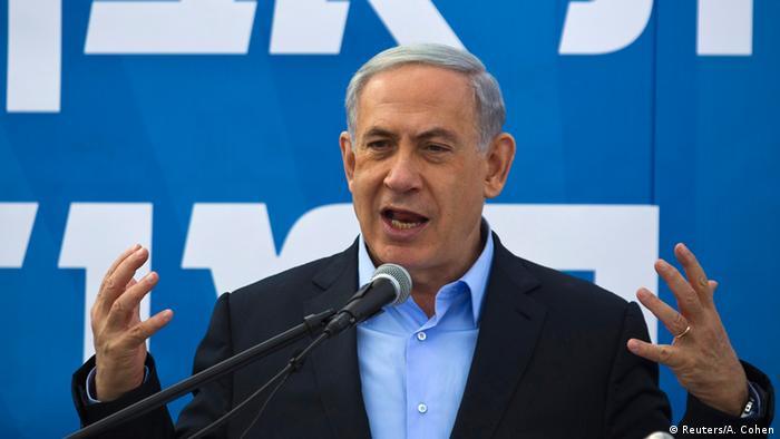 Netanjahu bei einem Auftritt in Sderot (Foto: reuters)