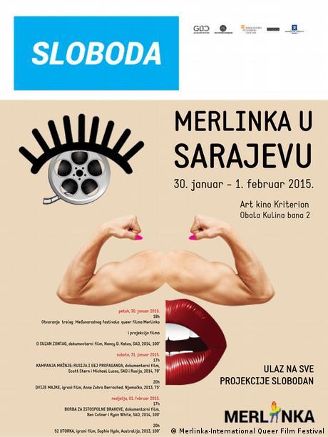 Plakat: Queer Festival Merlinka Sarajevo