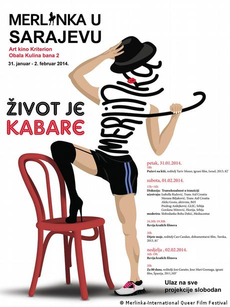 Plakat Queer Festival Merlinka Sarajevo