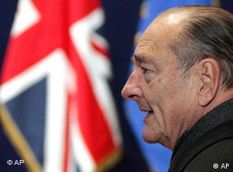 Chirac is not a champion of English as Europe's lingua franca