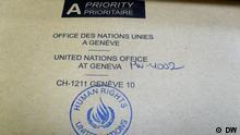 Ein Brief von der UNO. Foto: Korrespondent in Mogilev Alexandr Burakow, Januar 2015