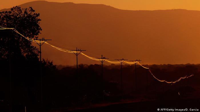 Power line in South Africa