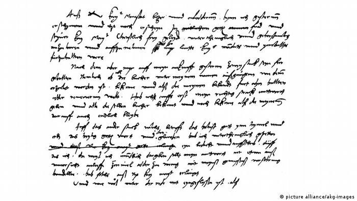 Черновик выступления Лютера в Вормсе