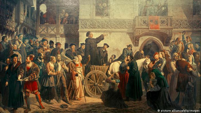 Въезд Мартина Лютера в Вормс