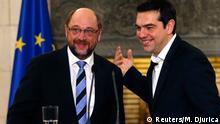 Martin Schulz und Alexis Tsipras