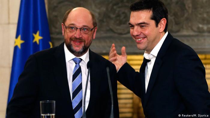 Martin Schulz und Alexis Tsipras (Reuters/M. Djurica)