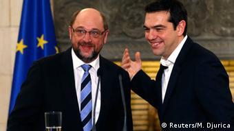 Από την επίσκεψη του Μ. Σουλτς στην Ελλάδα τον Ιανουάριο του 2015