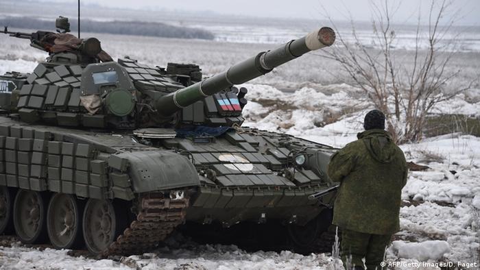 Пророссийские сепаратисты в окрестностях Дебальцево