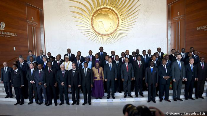 AU leaders at the summit in Addis Ababa