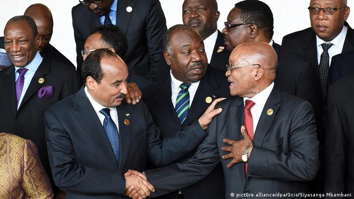 African heads of state gather for an African Union summit.