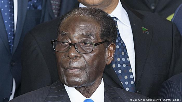 Robert Mugabe at the 2015 African Union summit