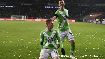 Kevin De Bruyne celebrates