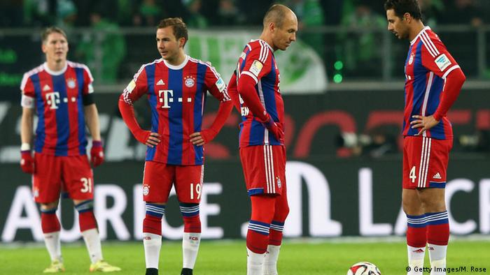 Bayern players on the field
