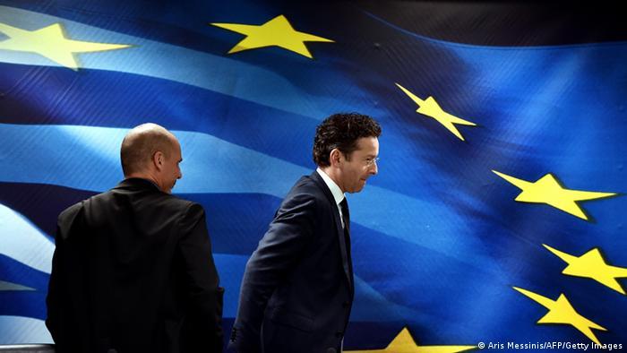 Griechenland PK Jeroen Dijsselbloem & Gianis Varoufakis 30.01.2015