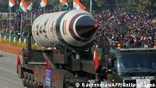 India's Agni-V missile on display during a parade in New Delhi in 2013 (Raveendran/AFP/Getty Images)