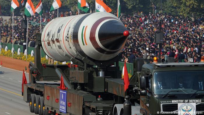 Indien Agni V Interkontinentalrakete ARCHIVBILD 2013 (Raveendran/AFP/Getty Images)