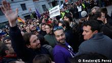 Madrid Protest der Partei Podemos - Pablo Iglesias