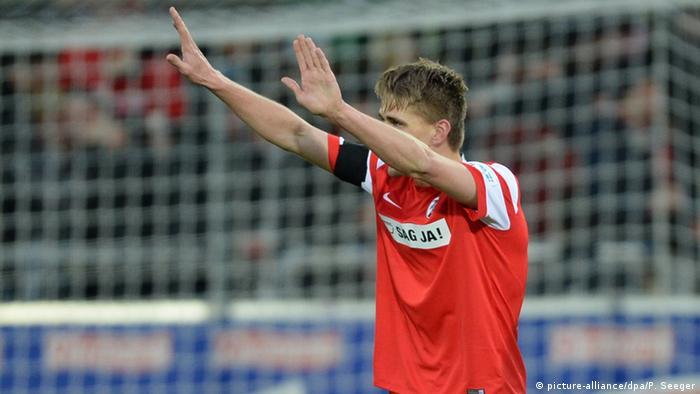 Bundesliga SC Freiburg vs. Eintracht Frankfurt 31.1.2015 (Nils Petersen)