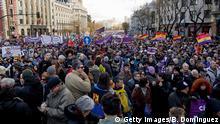 Madrid Protest der Partei Podemos