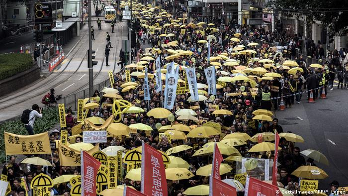 Hongkong - Demonstrationen für mehr Demokratie (Getty Images/AFP/P. Lopez)
