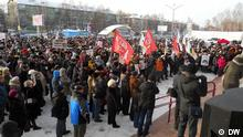 Russland Protestaktion in Tomsk