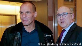Finanzminister Treffen in Paris Yanis Varoufakis und Michel Sapin
