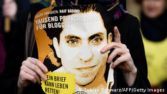 Solidaritätsdemonstration für den saudischen Blooger Raif Badawi in Berlin (Foto: AFP / Getty Images)