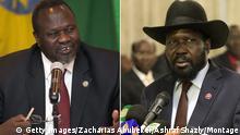 Bildkombo Südsudan Riek Machar und Salva Kiir