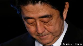 Japan's Prime Minister Shinzo Abe looks down as he speaks to the media at his official residence in Tokyo February 1, 2015 (Photo: REUTERS/Toru Hanai)