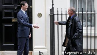 Yanis Varoufakis and George Osborne (Photo: REUTERS/Peter Nicholls)