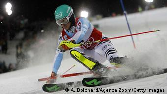 Felix Neureuther beim Slalom in Schladming. Foto: Getty Images