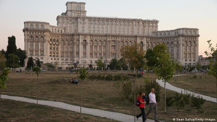 Parlamentspalast in Bukarest Rumämien