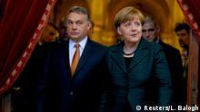 Merkel zu Gast bei Orban 02.02.2015 Budapest