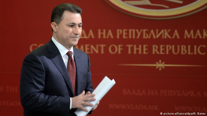 Mazedonischer Premierminister Nikola Gruevski