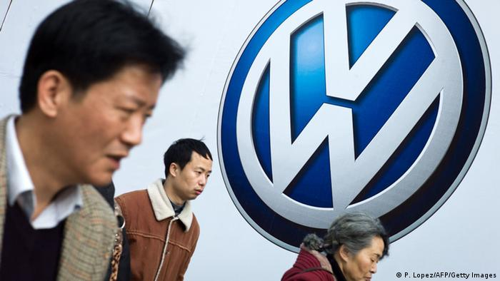 Symbolbild Autos deutscher Herstellung in China (P. Lopez/AFP/Getty Images)