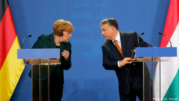 Angela Merkel and Viktor Orban in Budapest (Reuters/L. Balogh)
