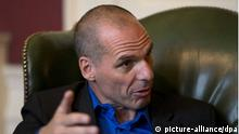 Griechenlands Finanzminister Gianis Varoufakis in der Londoner Downing Street