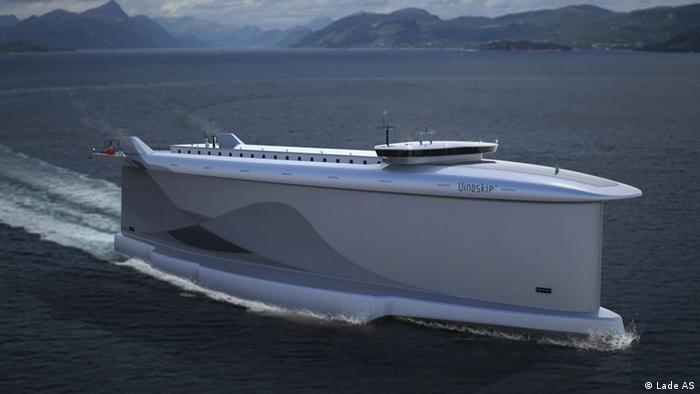So könnten Megafrachter der Zukunft assehen: Vindskip TM mit Windantrieb
