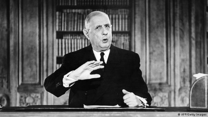Charles de Gaulle makes a speech