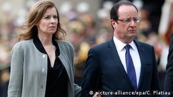 Valerie Trierweiler (left) and Francois Hollande