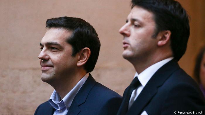 Rom Besuch Alexis Tsipras bei Renzi 03.02.2015