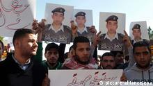 Jordanien - Protest Pro Pilot Muas al-Kasasba