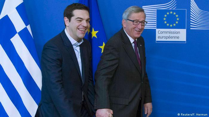 Alexis Tsipras mit Jean-Claude Juncker in Brüssel 04.02.2015