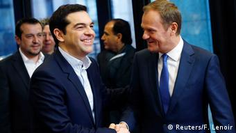 Alexis Tsipras mit Donald Tusk in Brüssel 04.02.2015