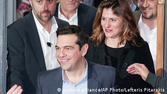 Betty Baziana and Alexis Tsipras