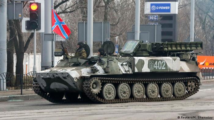 Сепаратисты на востоке Украины, управляющие ЗРК Стрела-10